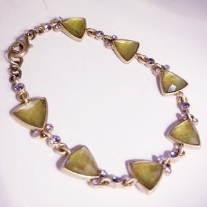 Green and Lilac Bracelet